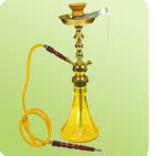 Yellow Deluxe Glass Hookah